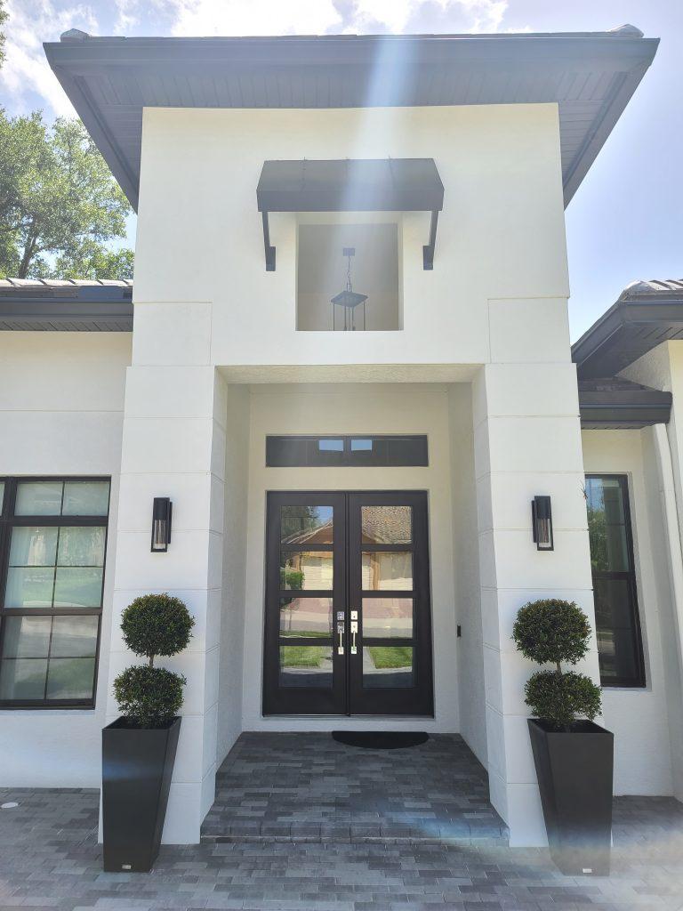 custom design entryway on new luxury home by Ayers Custom Homes