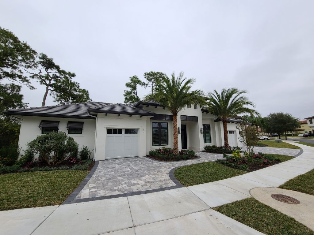 exterior of new custom home by Ayers Homes