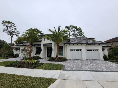 exterior of gorgeous custom home in the orlando area