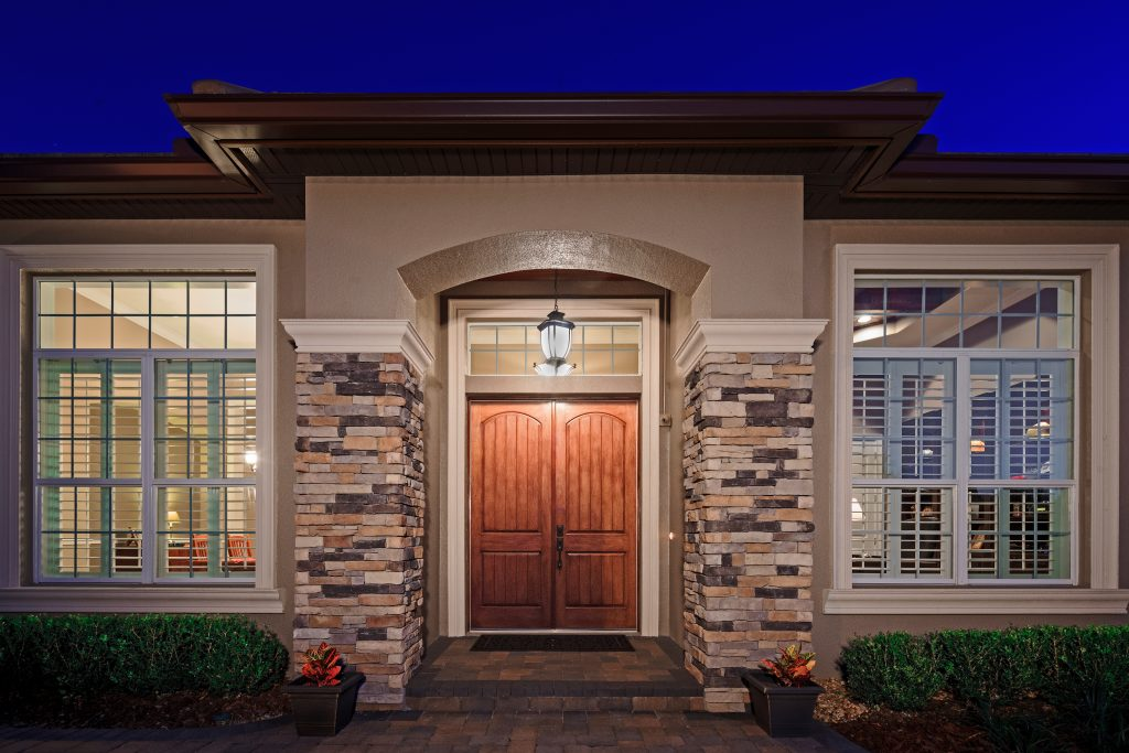 doorway on new home custom built by Ayers Homes