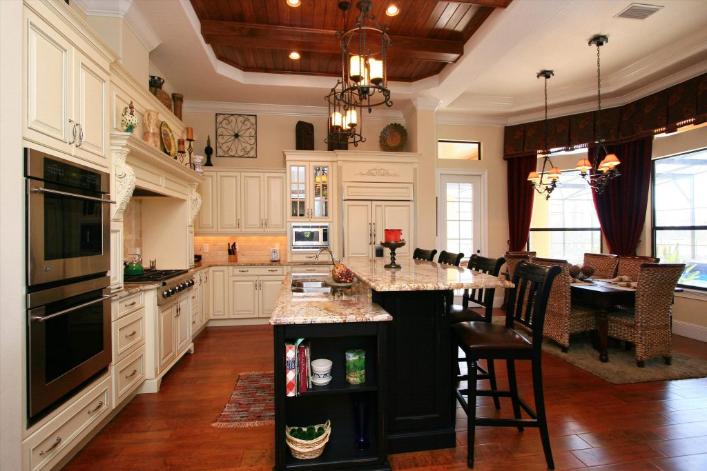 elegant custom kitchen in new residential home by Ayers Homes