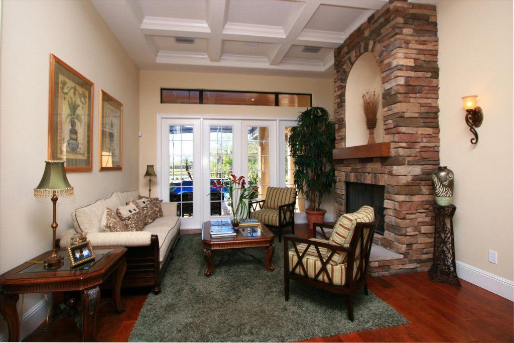 custom living room by luxury custom home builder Ayers Homes