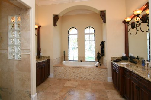luxury custom bath design in new home by Ayers Homes