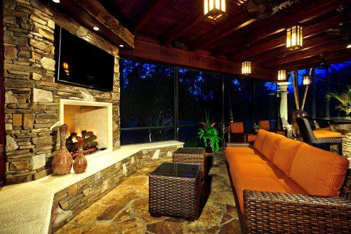 custom patio living room designed by Ayers Custom Homes