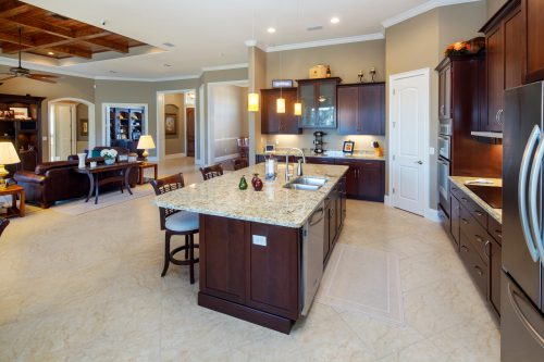 custom kitchen at luxury home designed by Ayers Custom Homes