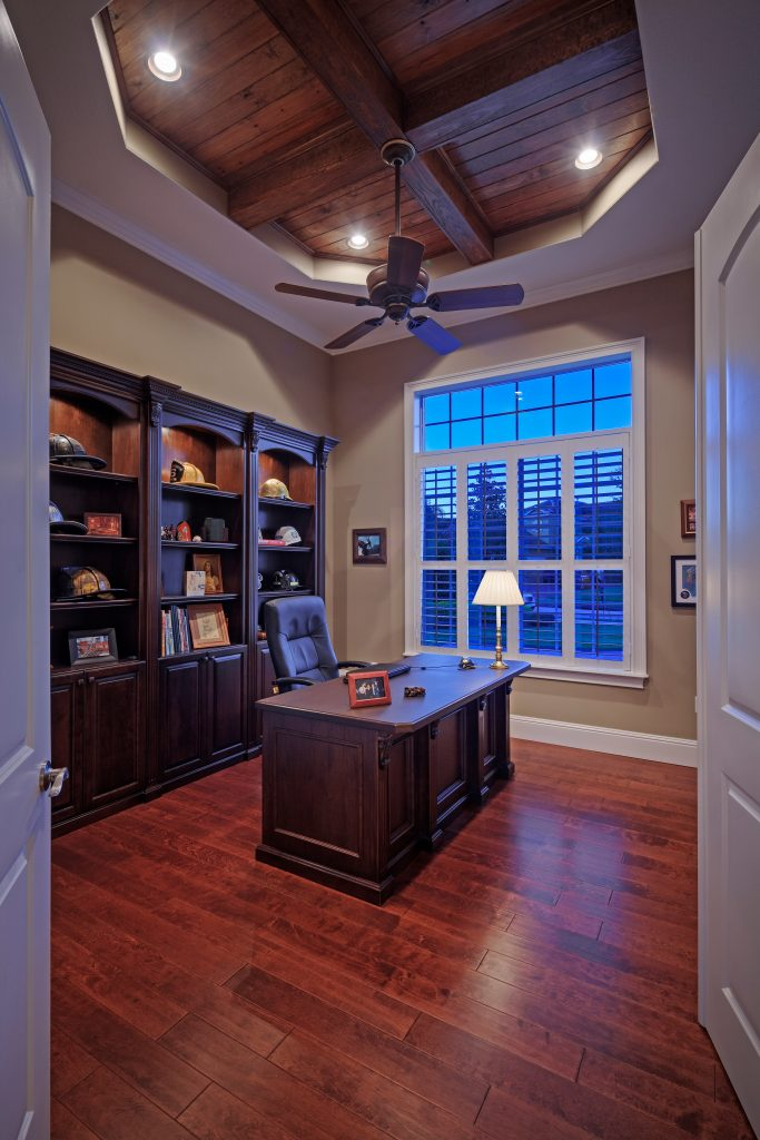 office at new custom home in Orlando built by Ayers Homes