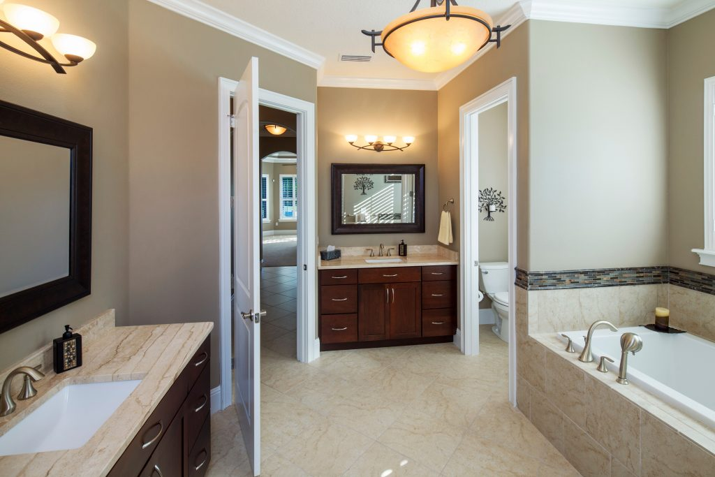 custom bath at new luxury home in Orlando by Ayers Homes