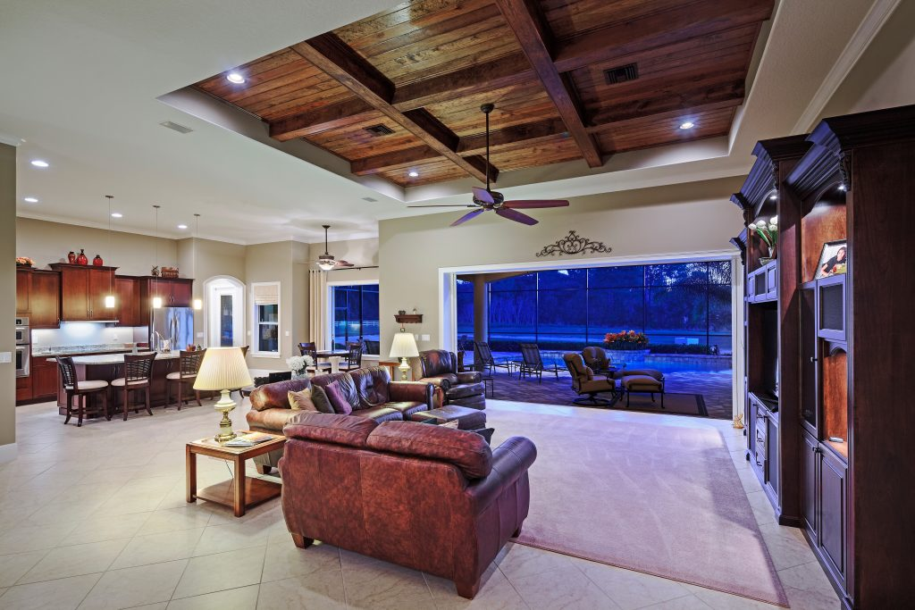 interior of new luxury custom home by Ayers Homes in the Orlando area