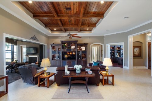 interior living room design by Ayers, a custom home builder in Orlando