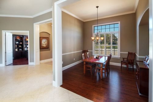 interior of brand new custom home by Ayers, an Orlando home builder