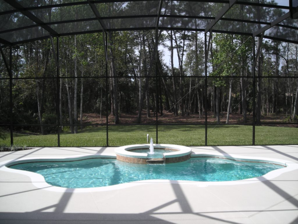 pool at custom home built by Ayers Homes in Orlando