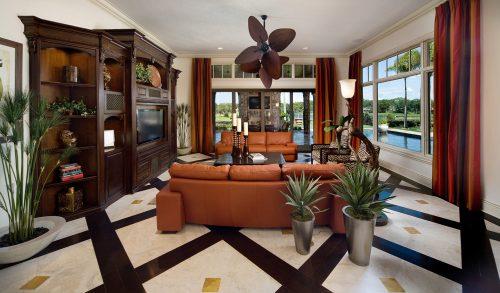 custom living room design by Ayers Custom Homes
