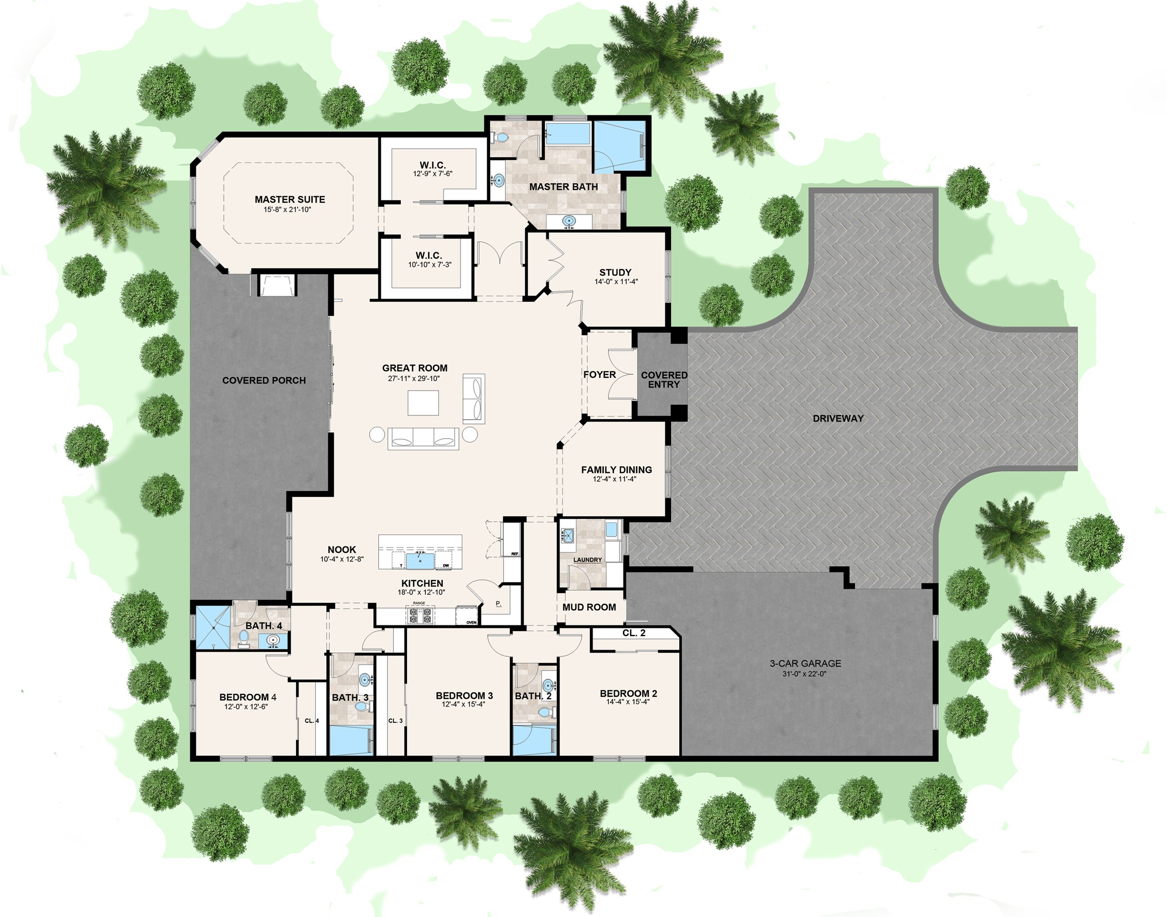 Floorplan of an Ayers Home Central Florida